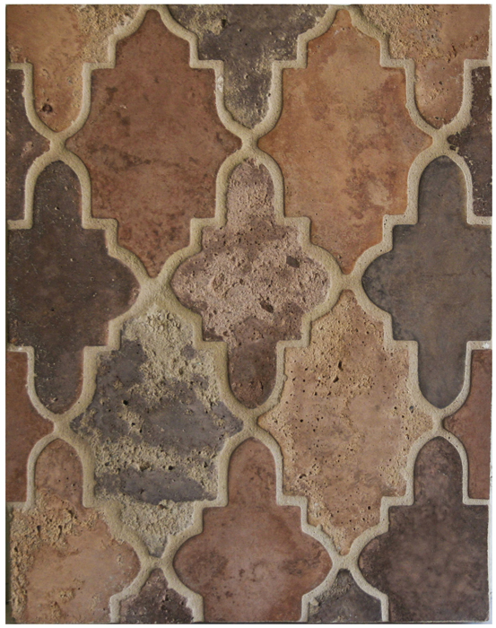 BB142* MINI Arabesque Pattern 15- Normandy Cream-*Available At Select Dealers--Grout Used: Laticrete 81 Butter Cream