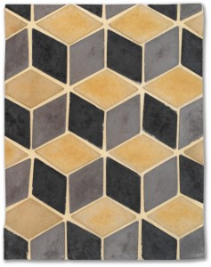 BB15 3x5 Mini Diamond Old Cal, Sidewalk, Charcoal-Grout Used: Laticrete18 Sauterne