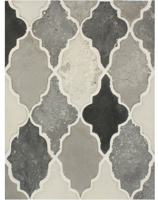 BB199 Arabesque Pattern 12 Montage Grays Vintage