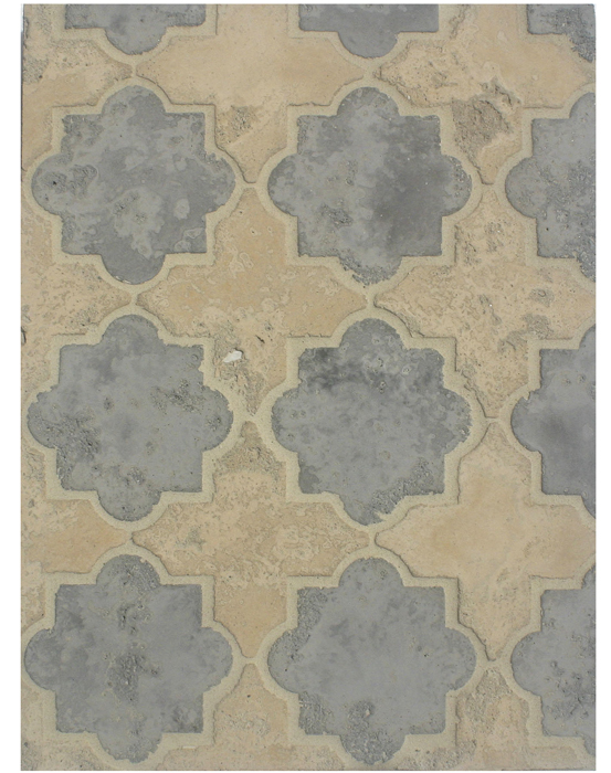 BB203 Arabesque Pattern 8c- Sidewalk/Hacienda-Limestone