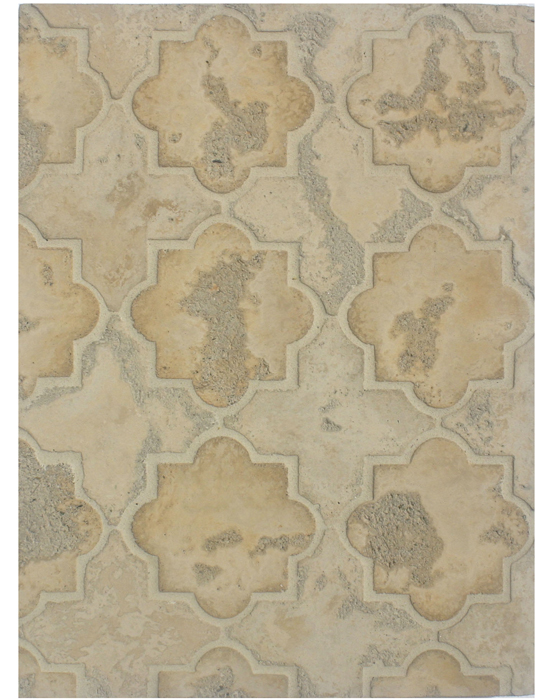 BB204 Arabesque Pattern 8c-Sonora Sunset/Hacienda-Limestone