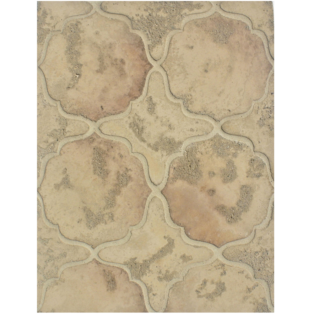 BB205 Arabesque Pattern 13- Hacienda Flash Limestone and Hacienda Limestone