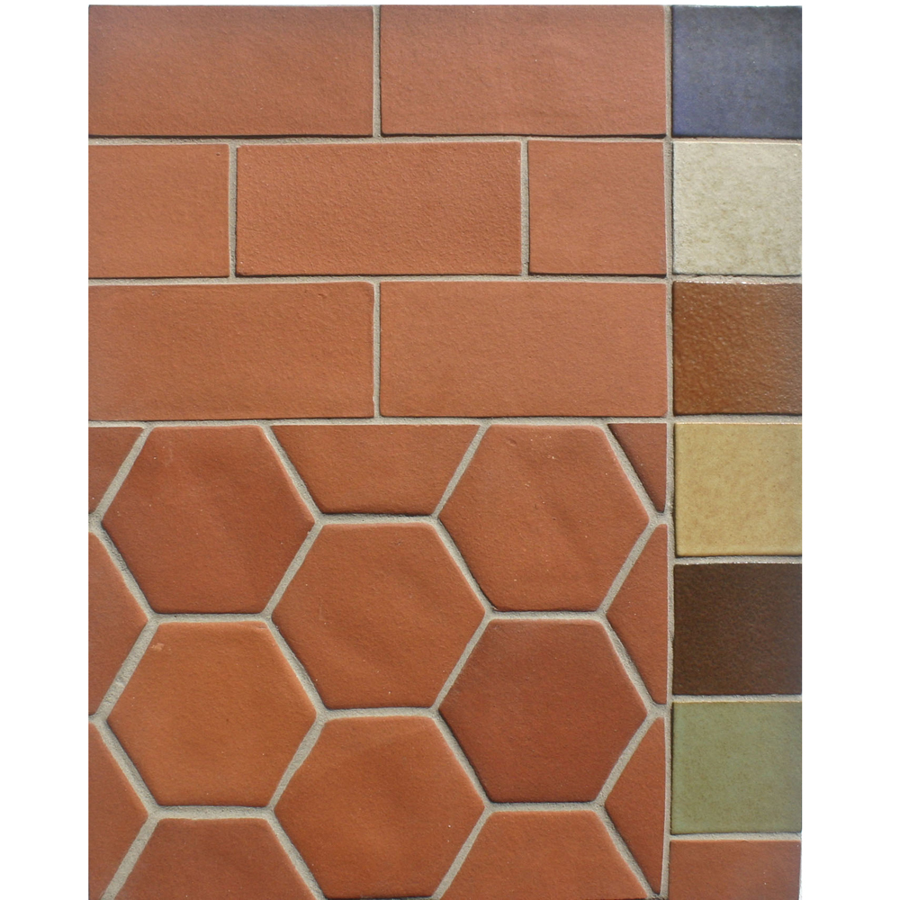 BB214 3x6 Field Tile, 4'' Oleson Hexagon -Red & 3x3 Color Chips