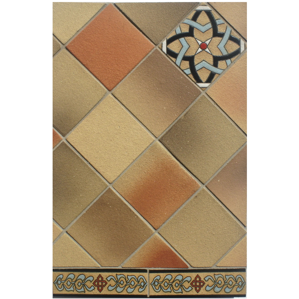 BB217 4x4 Coachela Filed Tile with Deco and Liner B