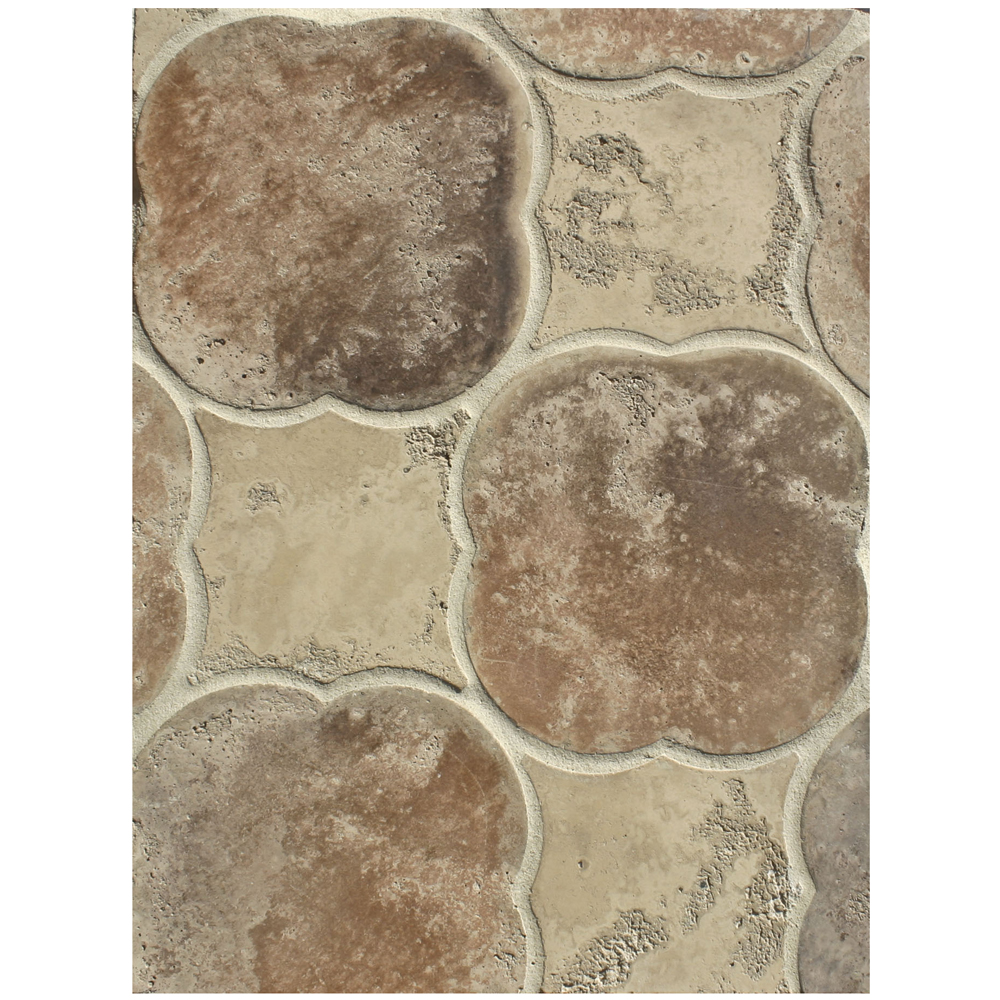 BB226 Arabesque Pattern 1-Hacienda Limestone & Beachwood Flash Limestone