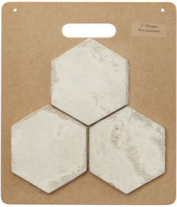 HB38 6'' Hexagon Rice Limestone