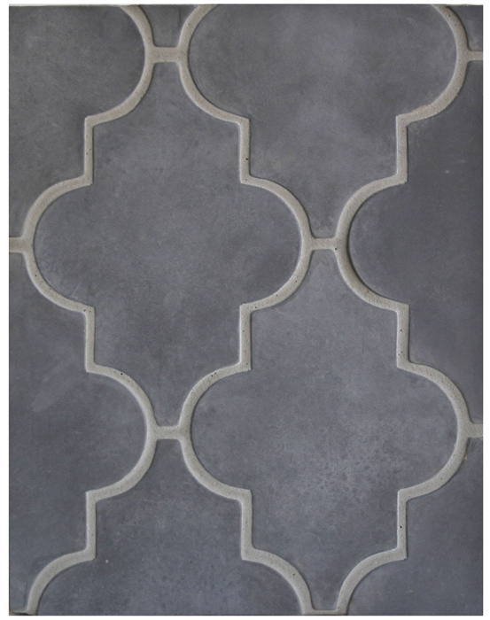 BB141*- Arabesque Pattern 16-Charcoal Gray*Available At Select Dealers--Grout Used: Laticrete 24 Natural Gray