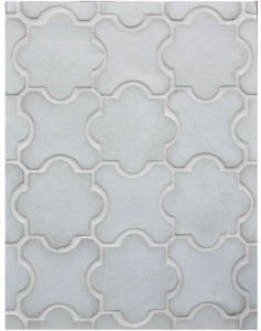 BB130 Arabesque Pattern 8B- Early Gray-Grout Used: Laticrete 18 Sauterne