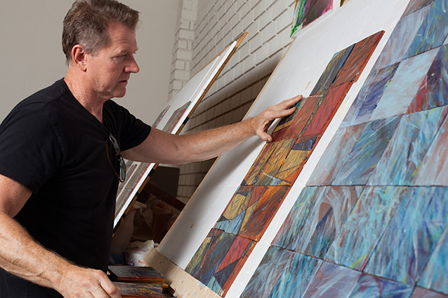 David Shipley Working in his Studio